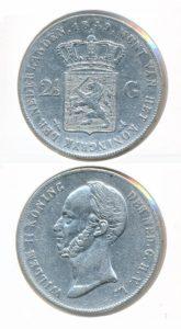 Nederland Zilveren Rijksdaalder 1849 Willem II