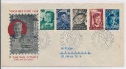 Nederland 1951 FDC Kind met getypt adres E6