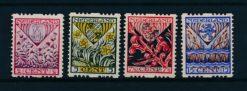 Nederland 1927 Kinderzegels R78-R81 Postfris