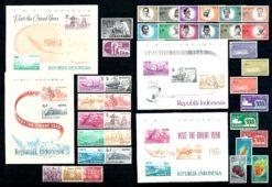 Indonesie 1961 Complete jaargang postzegels postfris