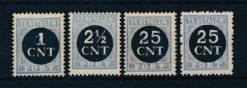 Nederland 1923 Overdrukken van 1912-1920 P61-P64 Postfris