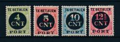 Nederland 1924 Overdrukken van 1899-1921 P65-P68 Postfris