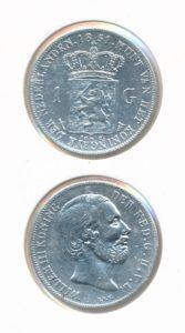 Nederland Zilveren Gulden 1851 Willem III