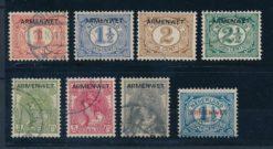 Nederland 1913 Armenwet D1-D8 Gestempeld