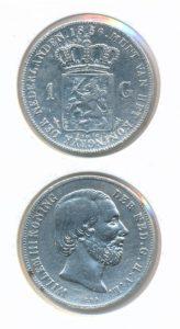 Nederland Zilveren Gulden 1856 Willem III