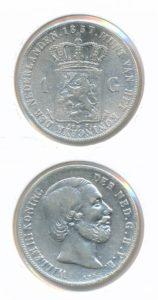 Nederland Zilveren Gulden 1857 Willem III