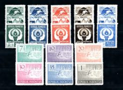 Indonesie 1951 Complete jaargang postzegels postfris Gelegenheidzegels