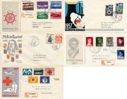 Nederland 1957 Complete Jaargang Eerste Dag Enveloppen