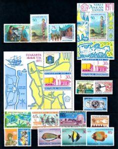 Indonesie 1971 Complete jaargang postzegels postfris