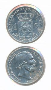 Nederland Zilveren Gulden 1859 Willem III