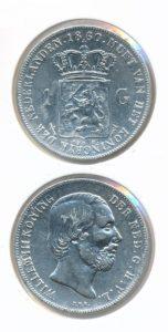 Nederland Zilveren Gulden 1860 Willem III