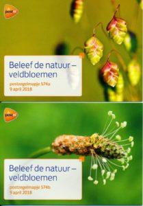Nederland 2018 Beleef de natuur - Veldbloemen PZM574A-B