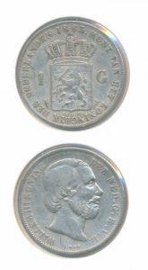 Nederland Zilveren Gulden 1863 Willem III
