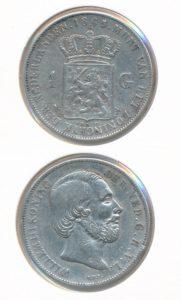 Nederland Zilveren Gulden 1865 Willem III