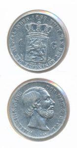 Nederland Zilveren Gulden 1866 Willem III