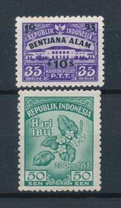 Indonesie 1953 Complete jaargang postzegels postfris Gelegenheidzegels