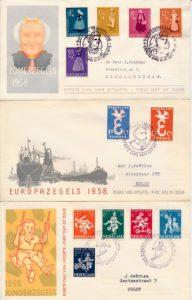 Nederland 1958 Complete Jaargang Eerste Dag Enveloppen