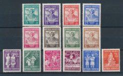 Indonesie 1954 Complete jaargang postzegels postfris
