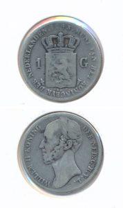 Nederland Zilveren Gulden 1843 Willem II