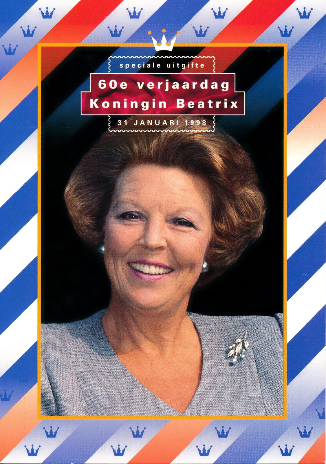 Nederland 1998 Themamapje 60e verjaardag Koningin Beatrix