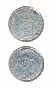 Nederland Zilveren Gulden 1844 Willem II