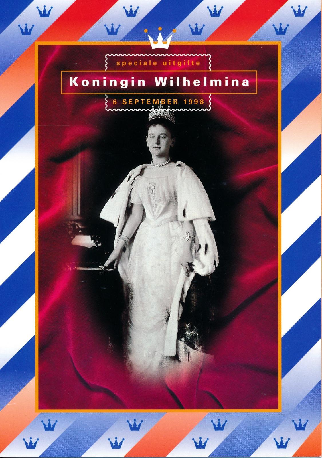 Nederland 1998 Themamapje Koningin Wilhelmina