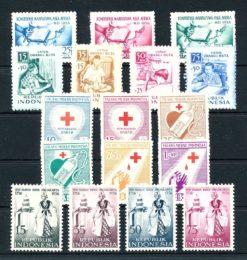 Indonesie 1956 Complete jaargang postzegels postfris Gelegenheidzegels