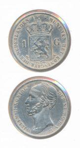 Nederland Zilveren Gulden 1845 Willem II