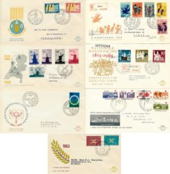 Nederland 1963 Complete Jaargang Eerste Dag Enveloppen