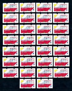 Nederland 1989-1993 Klussendorf Automaatstroken AU1-AU30