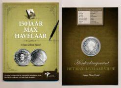 Nederland 2010 5 Euro 150 jr. Max Havelaar Proof in blister