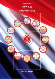 Nederland 2002 Themamapje 8 Twaalf provincies