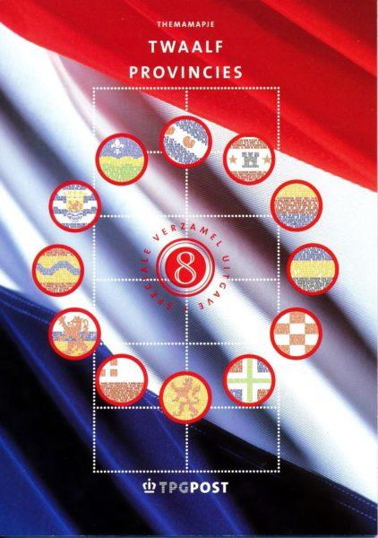 Nederland 2002 Themamapje 8 Twaalf provincies 1