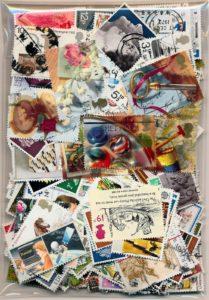 Engeland samenstelling van ruim 450 Verschillende postzegels