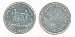 Republiek Suriname 1976 F 10 Gulden 1 jaar onafhankelijkheid Proof