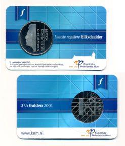 Nederland 2015 2 Gulden Laatste reguliere Rijksdaalder FDC Coincard