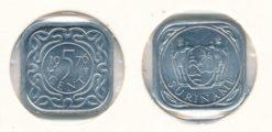 Republiek Suriname 1976 5 Cent