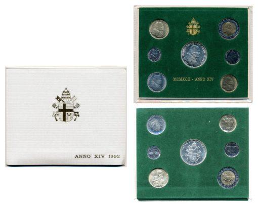 Vaticaan 1992 Joannes Paulus II Anno XIV FDC jaarset 1