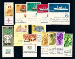 Israel 1958 Complete jaargang postzegels met full-tab postfris