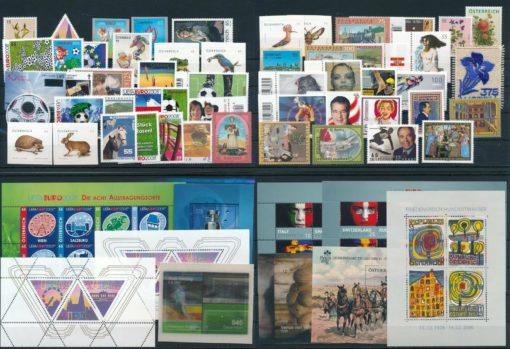 Oostenrijk 2008 Complete jaargang  postfris 1