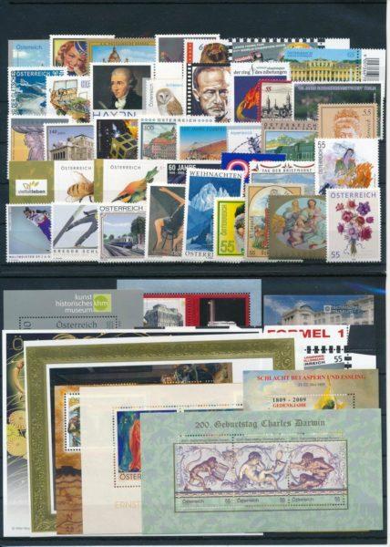 Oostenrijk 2009 Complete jaargang  postfris 1