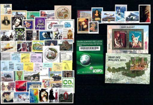 Oostenrijk 2011 Complete jaargang  postfris 1