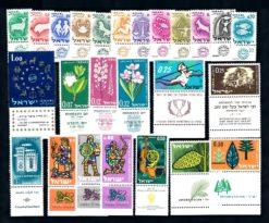 Israel 1961 Complete jaargang postzegels met full-tab postfris