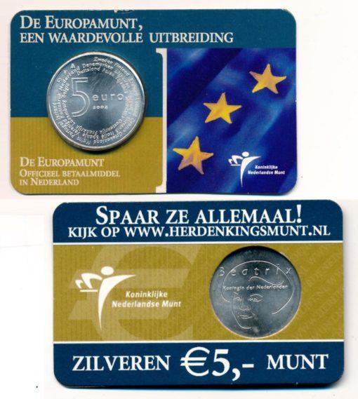 Nederland 2004 Europamunt 5 euro zilver UNC Coincard 1