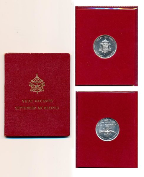 100352 Vatican City Sept. 1978 500 Lire