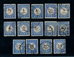 Nederland 1894 Portzegels P13-P26 ,Type 1 gestempeld