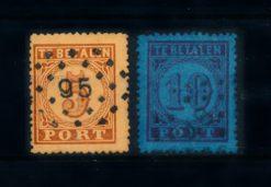 Nederland 1870 Portzegels P1-P2 gestempeld