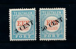 Nederland 1906-1910 Portzegels Overdruk P27-P28 ongebruikt