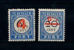 Nederland 1906-1909 Portzegels P29-P30 ongebruikt