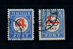 Nederland 1906-1909 Portzegels P29-P30 gestempeld